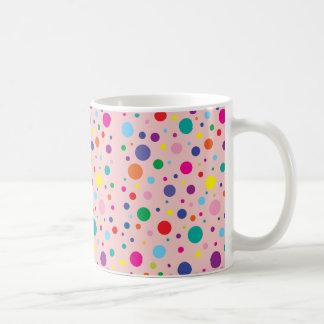 水玉模様 のローズクォーツのカスタマイズ背景Clr コーヒーマグカップ