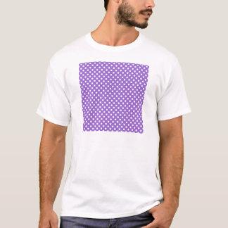 水玉模様-アメジストの白 Tシャツ