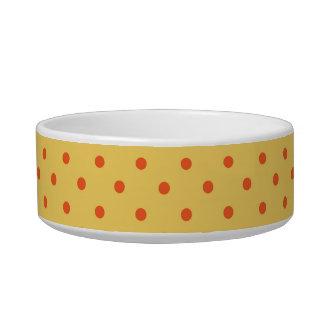 水玉模様、オレンジ黄色 ボウル