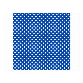 水玉模様-コバルトの白 ポストカード