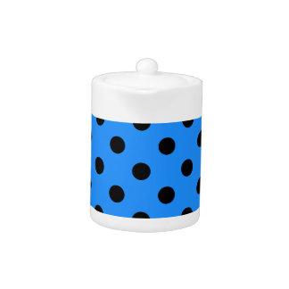 水玉模様-ドジャースの青の黒