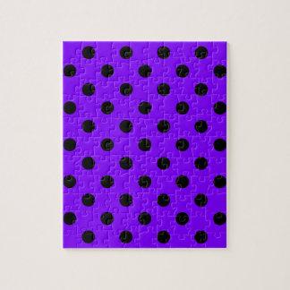 水玉模様-バイオレットの黒 ジグソーパズル