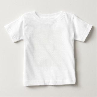水玉模様-ベージュ色の白 ベビーTシャツ
