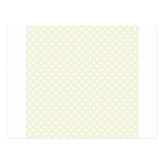 水玉模様-ベージュ色の白 ポストカード