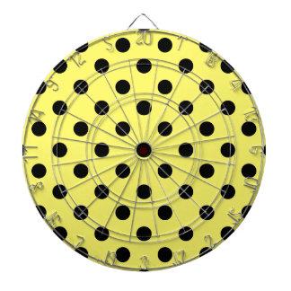 水玉模様-レモンの黒 ダーツボード