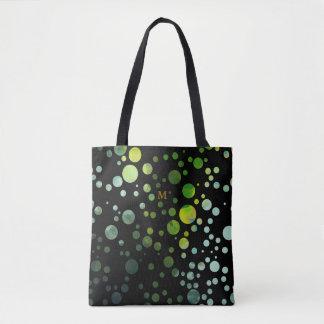水玉模様-円-パターン-黒 トートバッグ