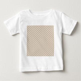 水玉模様-暗いバニラの白 ベビーTシャツ