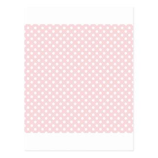水玉模様-淡いピンクの白 ポストカード