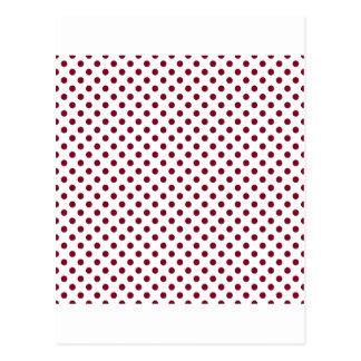 水玉模様-白のバーガンディ ポストカード
