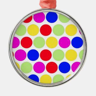 水玉模様、色セット1 メタルオーナメント