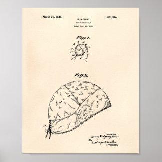 水球のギャップ1925のパテントの芸術古いPeper ポスター