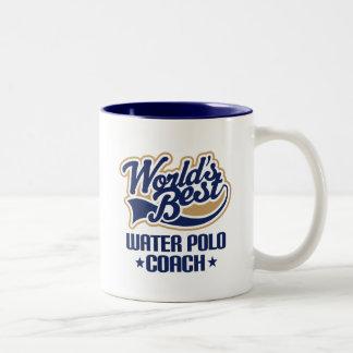 水球のコーチ(世界のベスト)のためのギフトのアイディア ツートーンマグカップ
