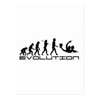 水球のスポーツの進化の芸術 ポストカード