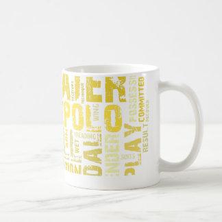 水球の単語の雲プロダクト コーヒーマグカップ