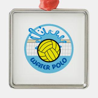 水球の網のしぶき メタルオーナメント