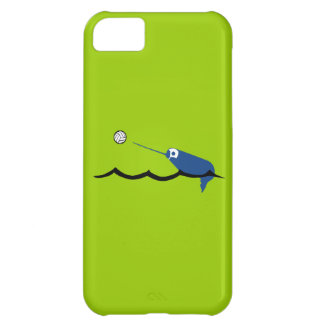 水球のNarwhal Zany Du Designs Childrenのスポーツ iPhone5Cケース
