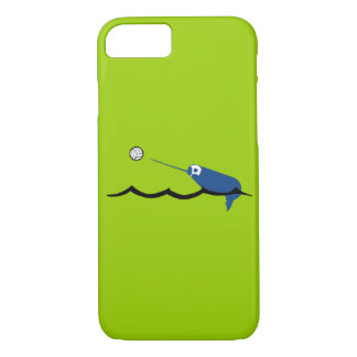 水球のNarwhal Zany Du Designs Childrenのスポーツ iPhone 8/7ケース