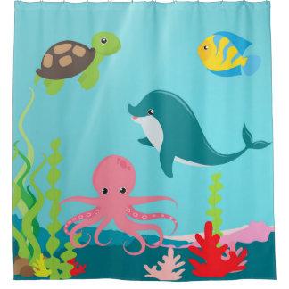 水生海の生命シャワー・カーテン シャワーカーテン