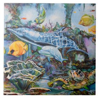 水生生命写真のタイル タイル