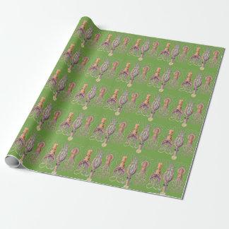 水生生命Haeckelのタコの紙の覆い ラッピングペーパー