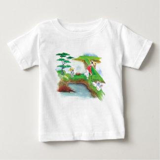 水田の乳児Tの足の足 ベビーTシャツ