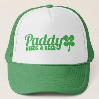 水田はビールを必要とします! St patricks dayのdrinkinのデザイン キャップ