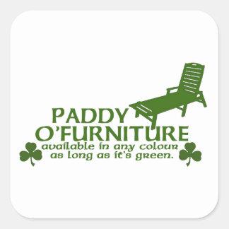 水田Oの家具-おもしろいなアイルランド人のデザイン- Stパトリック スクエアシール