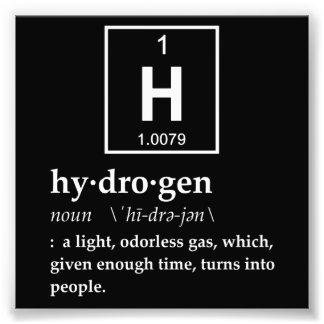水素の定義 フォトプリント