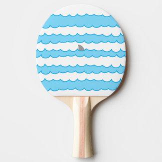水絵のおもしろいでお洒落な鮫のひれ 卓球ラケット