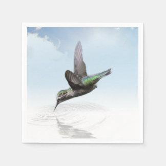 水絵へのハチドリのダイビング スタンダードカクテルナプキン