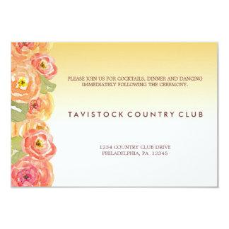 水色によってはグラデーションな結婚披露宴カードが開花します カード