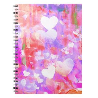 水色のハート ノートブック
