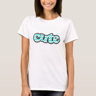 水色シェブロン; ジグザグ形 Tシャツ