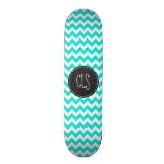 水色シェブロン; ヴィンテージの黒板の一見 スケートボード