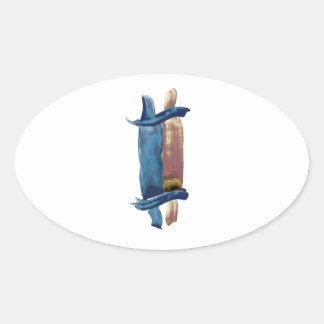 水色Torah 楕円形シール