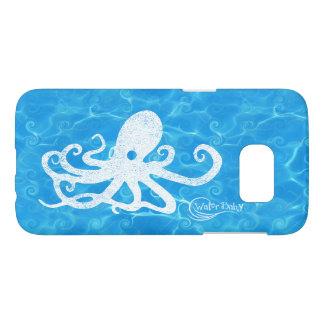 水赤ん坊のタコの波の箱 SAMSUNG GALAXY S7 ケース