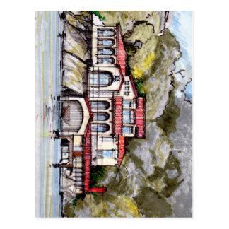 水辺地帯のトスカナ式のスタイルの別荘 ポストカード