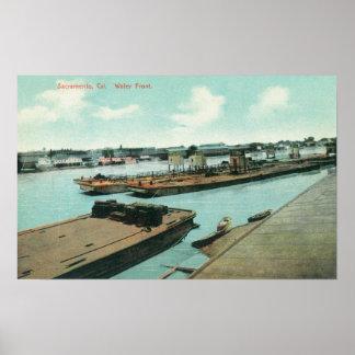 水辺地帯3の空中写真 ポスター