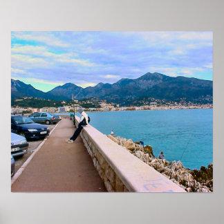 水辺地帯、地中海のな、ニース、リビエラ ポスター