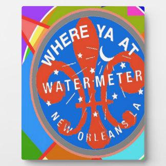 水道メーターの抽象芸術ニュー・オーリンズ フォトプラーク