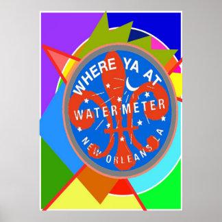 水道メーターYatの抽象的な色 ポスター
