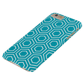 水青く幾何学的なパターンiPhone 6のプラスの場合 Barely There iPhone 6 Plus ケース