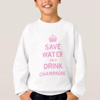 水飲み物のシャンペンを救って下さい スウェットシャツ