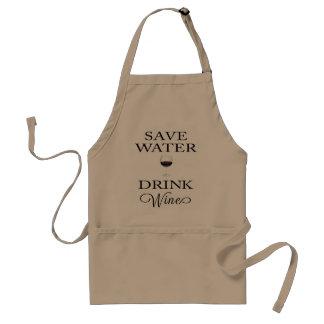 水飲み物のワインを救って下さい スタンダードエプロン