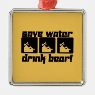 水飲み物ビールを救って下さい! メタルオーナメント