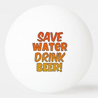 水飲み物ビールPongの球を救って下さい 卓球 ボール