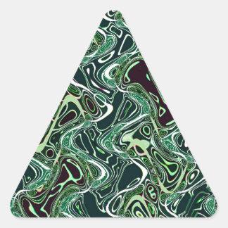 水3に油 三角形シール