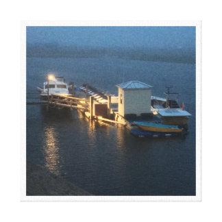 水4Stephenに平和なボート キャンバスプリント