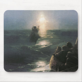 水、イヴァンAivazovskyの絵画にイエス・キリストの歩く マウスパッド