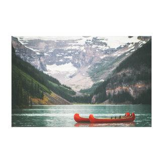 水|山|の空のカヌー キャンバスプリント